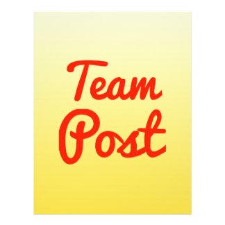 Poste del equipo tarjetón