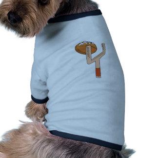Poste del fútbol camiseta con mangas para perro
