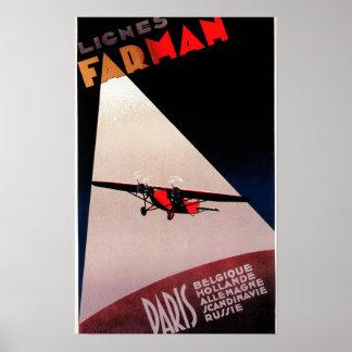 Poste del promo del monoplano de Farman 300 de las Posters
