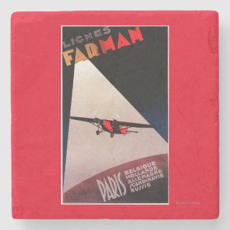 Poste del promo del monoplano de Farman 300 de las Posavasos De Piedra