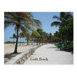 Poste del sur 1 de la playa tarjeta postal