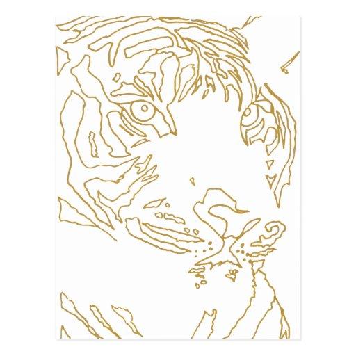 Poste del tigre postales