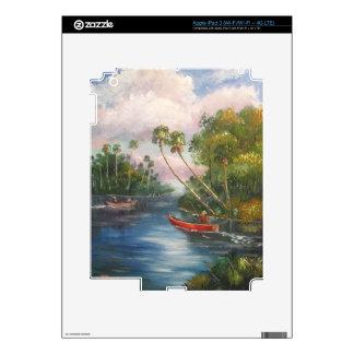 Poste dorsal de la pesca - río de Sta. Lucía del iPad 3 Pegatinas Skins