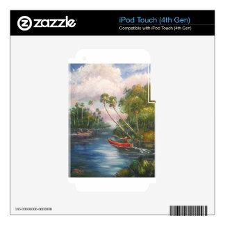 Poste dorsal de la pesca - río de Sta. Lucía del iPod Touch 4G Skins