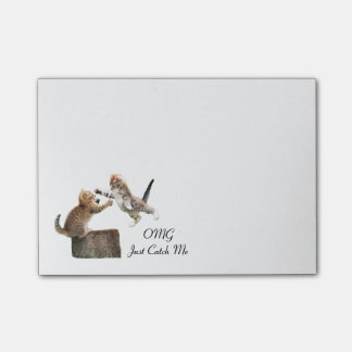 Poste-Él-Notas personalizadas del gatito Notas Post-it®
