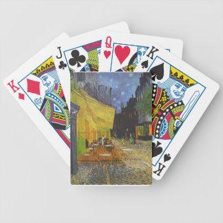 Poste-Impresionista de la terraza del café de Van Baraja Cartas De Poker