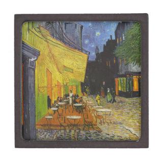 Poste-Impresionista de la terraza del café de Van Cajas De Regalo De Calidad