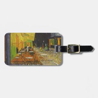 Poste-Impresionista de la terraza del café de Van Etiquetas Maletas