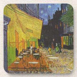Poste-Impresionista de la terraza del café de Van Posavasos De Bebida