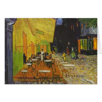 Poste-Impresionista de la terraza del café de Van Tarjeta De Felicitación