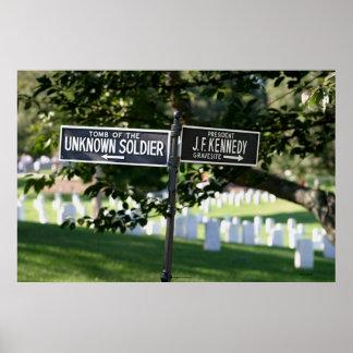 Poste indicador cementerio de Arlington Posters