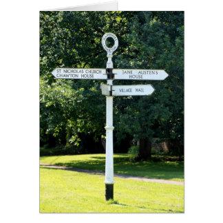 Poste indicador Hampshire de Chawton Tarjeta De Felicitación