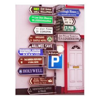 Poste indicador irlandés postales