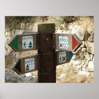 ¿Poste indicador israelí - yendo mi manera Poster