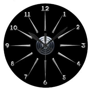 Poste industrial reloj redondo grande