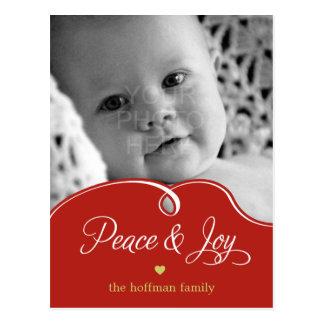 Poste pacífico de la tarjeta de la foto del día de tarjeta postal