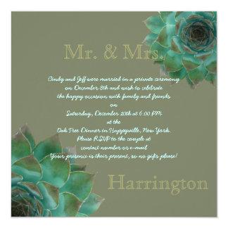 Poste que casa la invitación suculenta del fiesta invitación 13,3 cm x 13,3cm