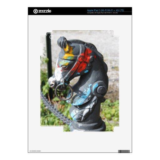 Poste que engancha del caballo colorido artsy, New Pegatinas Skins Para iPad 3