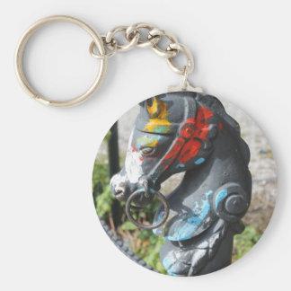 Poste que engancha del caballo colorido artsy New Llaveros Personalizados