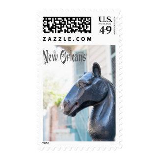 Poste que engancha del caballo de New Orleans Franqueo