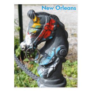 Poste que engancha New Orleans colorida de la Tarjeta Postal