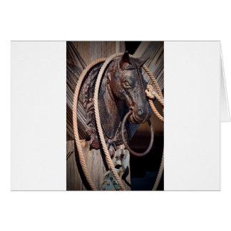 Poste que engancha y cuerda del caballo de hierro tarjeta de felicitación