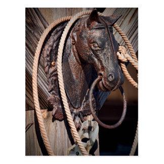 Poste que engancha y cuerda del caballo de hierro postal