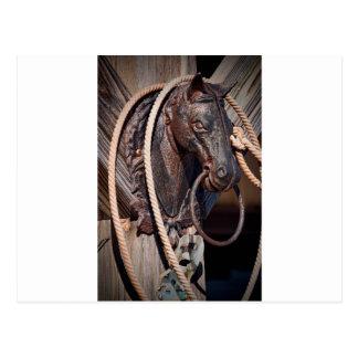 Poste que engancha y cuerda del caballo de hierro tarjeta postal