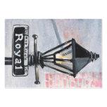 Poste real de la lámpara de calle plantillas de tarjeta de negocio