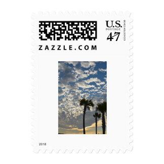 Poste-sello con una imagen de Palmettos Sellos