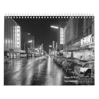 Poste-WWII Sacramento Calendario De Pared