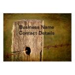 Poste y alambre de púas de la cerca plantilla de tarjeta personal
