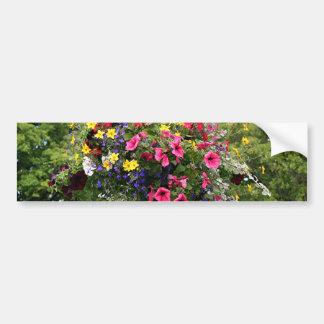 Poste y flores de la lámpara pegatina para auto