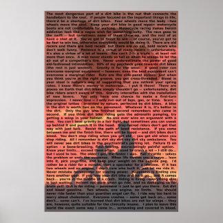 Poster 001 de la cita de la bici de la suciedad