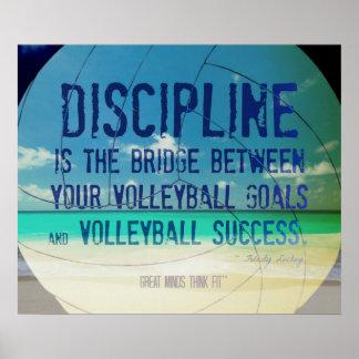 Poster 002 del voleibol de playa para la motivació