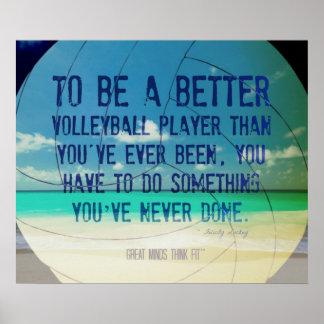 Poster 007 del voleibol de playa para la motivació