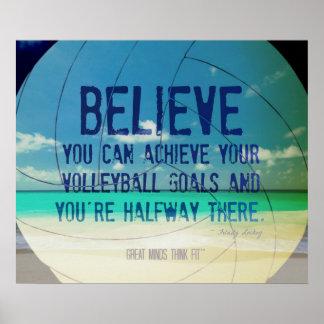 Poster 015 del voleibol de playa para la motivació