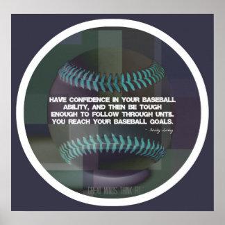 Poster 017 de la cita del béisbol