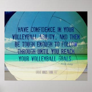 Poster 017 del voleibol de playa para la