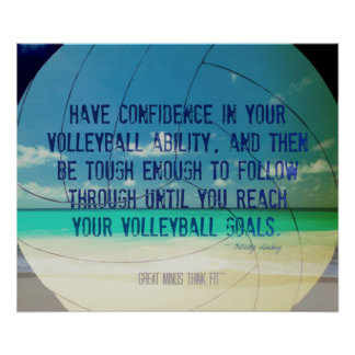 Poster 017 del voleibol de playa para la motivació