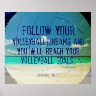 Poster 018 del voleibol de playa para la motivació