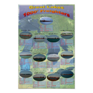 poster 1000 de los datos de los cargueros de Great