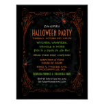 Poster 12 x 16 del fiesta de Halloween