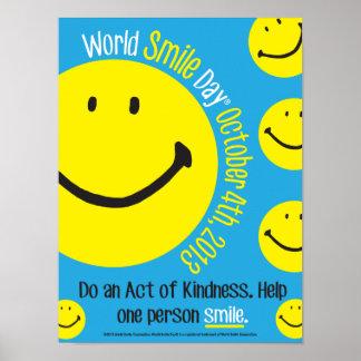 Poster 12x16 del día de la sonrisa del mundo