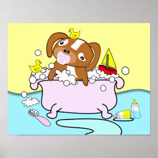 Poster 14 del pacificador del perrito de la bañera