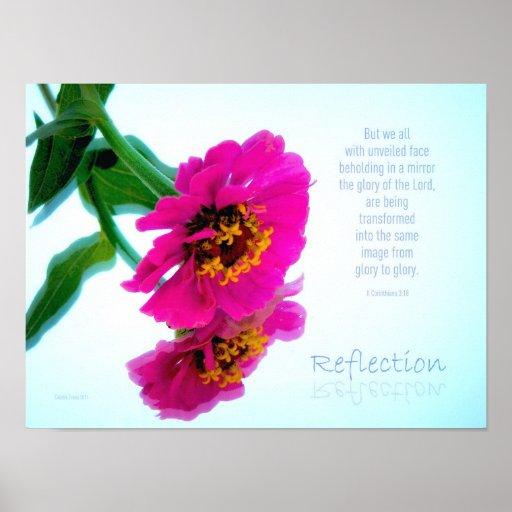 Poster 15,25 x 11,41 de la reflexión