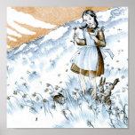 Poster 15x15 del chica de la naturaleza