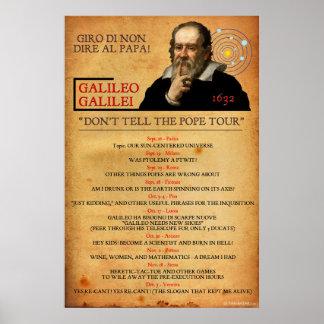 Poster 1632 del viaje de la herejía de Galileo Póster
