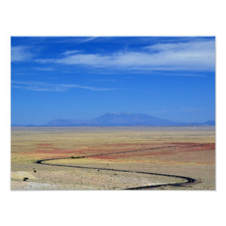 "Poster 16"" x 12"" - View from Meteor Crater"