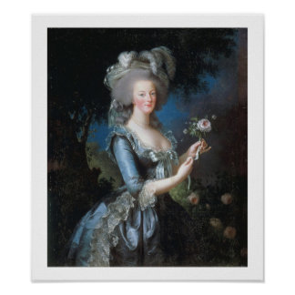 Poster 1783 del arte del vintage de la reina Marie